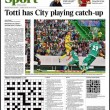 Francesco Totti, in Inghilterra i tabloid esaltano il capitano della Roma 13