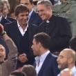 Roma-Bayern: Antonio Conte e Padre Georg in tribuna insieme FOTO
