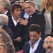 Roma-Bayern: Antonio Conte e Padre Georg in tribuna insieme 01