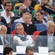 Roma-Bayern: Antonio Conte e Padre Georg in tribuna insieme 03