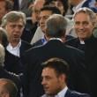 Roma-Bayern: Antonio Conte e Padre Georg in tribuna insieme 04