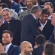 Roma-Bayern: Antonio Conte e Padre Georg in tribuna insieme 05