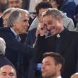 Roma-Bayern: Antonio Conte e Padre Georg in tribuna insieme 06