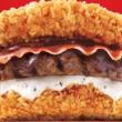 Il mega-hamburger senza pane. Pollo fritto, manzo e pancetta FOTO 2