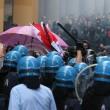 Bologna, Ignazio Visco all'università, scontri centri sociali-polizia04