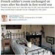 Francia, muore in guerra nel 1918: la sua stanza rimasta sempre uguale da 96 anni 03
