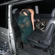 Lady Gaga porta a spasso il cane: il sexy abito velato mostra la lingerie02