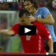 Edinson Cavani - Gary Medel, video del litigio in Cile-Uruguay