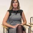 Maria Elena Boschi da Unicredit (foto): tubino e tacchi a spillo per i 15 anni della banca (Ansa)