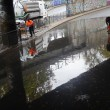Maltempo. Bomba d'acqua su Roma Sud: grandine sul litorale, Colosseo allagato6