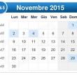 Calendario 2015: giorni festivi, ponti, Pasqua, 1° Maggio, Ferragosto e Natale