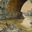 """""""Roma Sparita"""" di Ettore Roesler Franz in mostra: guarda gli acquerelli"""