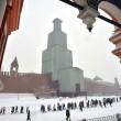 Mosca, tempesta di neve: voli cancellati e traffico in tilt 03