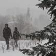 Mosca, tempesta di neve: voli cancellati e traffico in tilt 05
