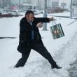 Mosca, tempesta di neve: voli cancellati e traffico in tilt 15