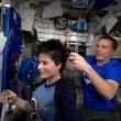 Samantha Cristoforetti, taglio di capelli nello spazio FOTO 2