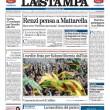 La prima pagina della Stampa