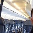 Chris O'Leary unico passeggero a bordo del volo Cleveland-New York03