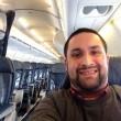 Chris O'Leary unico passeggero a bordo del volo Cleveland-New York2