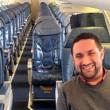 Chris O'Leary unico passeggero a bordo del volo Cleveland-New York