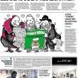 Religiosi leggono Charlie Hebdo e ridono: la vignetta di Le Monde
