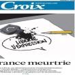 Charlie Hebdo, stampa francese listata a lutto07