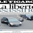 Charlie Hebdo, stampa francese listata a lutto06