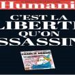 Charlie Hebdo, stampa francese listata a lutto05