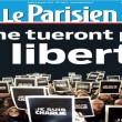 Charlie Hebdo, stampa francese listata a lutto02