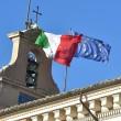 Quirinale: il forte vento stacca bandiera tricolore sul Colle