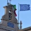 Quirinale: il forte vento stacca bandiera tricolore sul Colle 05