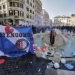 Ultras Feyenoord, Barcaccia di piazza di Spagna devastata a Roma FOTO 36