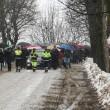 Elena Ceste, funerali sotto la neve a Govone 03