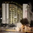Las Vegas, la spettacolare demolizione dell'Hotel Clarion03