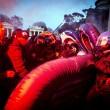Roma, anti-Salvini bloccano piazzale Flaminio04