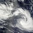 "Eunice e Diamondra, immagini cicloni ""gemelli"" 93"