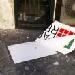 Roma, circolo Pd Trastevere: danneggiata tettoia e insegna esterna 03