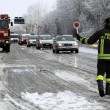 Maltempo Basilicata: autocisterna sbanda per neve a Potenza03
