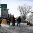 Maltempo Basilicata: autocisterna sbanda per neve a Potenza01