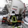 Maltempo Basilicata: autocisterna sbanda per neve a Potenza1
