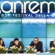 Sanremo, FOTO con Arisa, Rocio ed Emma Marrone. Carlo Conti12