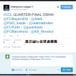 Sorteggi Champions League, Uefa anticipa su Twitter accoppiamenti... sbagliati