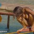 Cristina Buccino copriti la tetta... Incidente hot durante la prova delle corde (18)