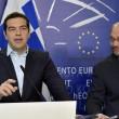 Alexis Tsipras e Martin Schulz, presidente del Parlamento Europeo (LaPresse)