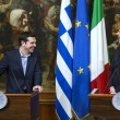 Alexis Tsipras incontra Matteo Renzi a Palazzo Chigi (LaPresse)