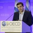 Alexis Tsipras nella sede dell'Ocse (LaPresse)