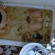 con 350 Mentos sul corpo si lancia nella vasca Coca Coca05