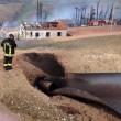 VIDEO YouTube Pineto, frana fa esplodere metanodotto: fiamme alte e 3 feriti 5