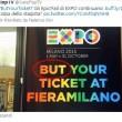 """Expo, but Your ticket"""": cartellone con errore a Milano, FOTO diventa virale02"""