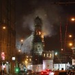 Russia, Mosca. Spento incendio monastero Novodevichy05